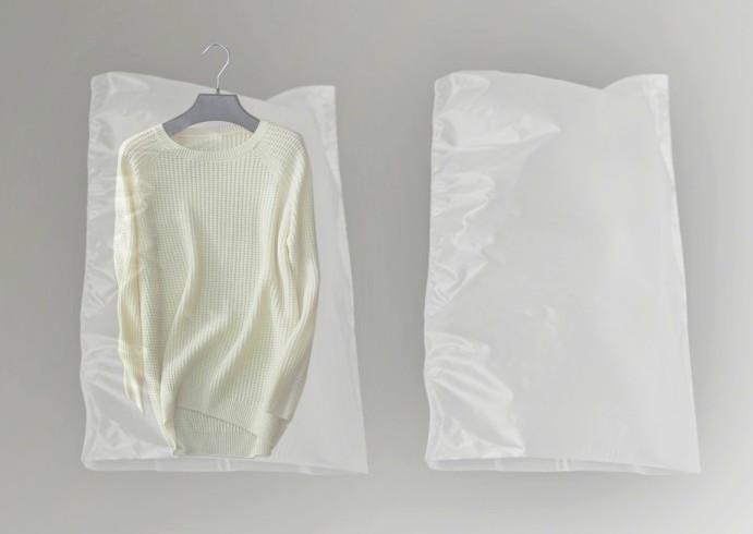 Чехлы для одежды 50 шт. полиэтиленовые прозрачного цвета размер 60*90 см.