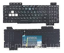 Оригинальная клавиатура для ноутбука Asus TUF Gaming FX505D, FX505D,Y FX505DD series, ua, черный, подсветка