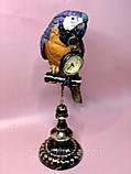 Декоративная фигура с часами Попугай 40.5см, фото 3