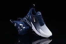 Кроссовки мужские Nike Air Max 270 Flyknit Spectrum в стиле найк Синие (Реплика ААА+)