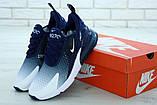 Кроссовки мужские Nike Air Max 270 Flyknit Spectrum в стиле найк Синие (Реплика ААА+), фото 3