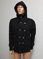 Мужской вязаный кардиган с капюшоном Lee Ecosse, кофта тёплая на пуговицах, молодёжный свитер