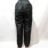 Зимние мужские теплые (Большие размеры) штаны прямые спортивные  на кашемире Черные, фото 4