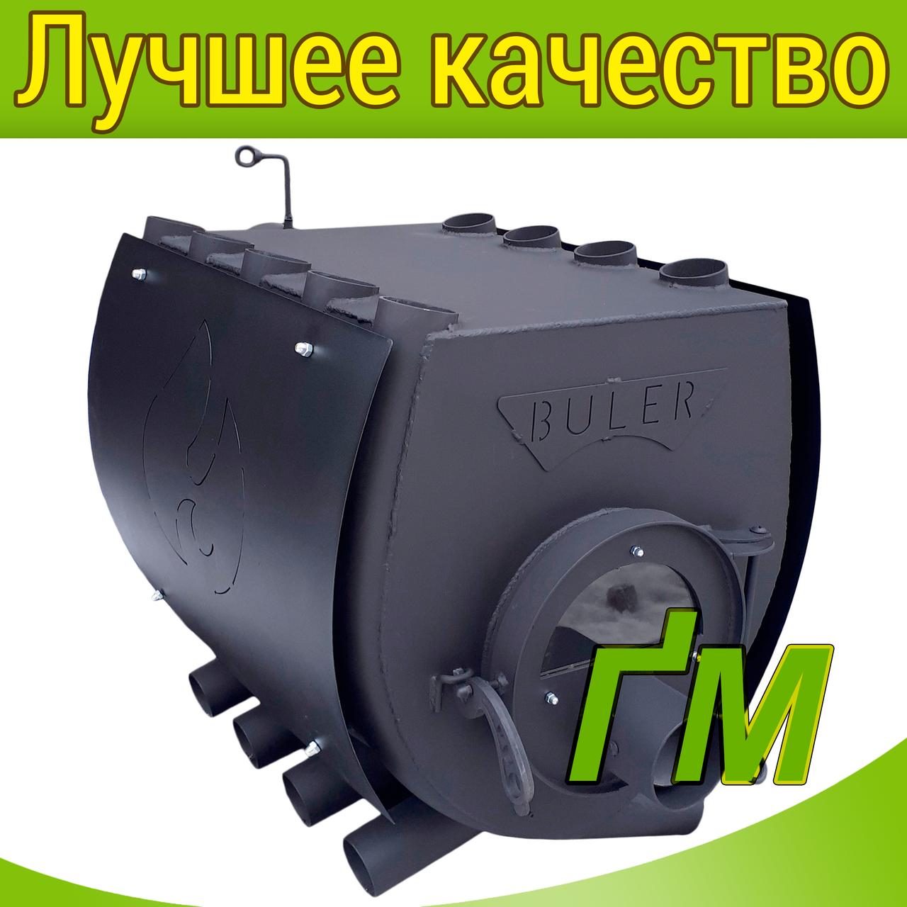 """Печь-булерьян """"Buller"""" Тип-02 со стеклом и защитным кожухом"""