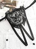 Комплект кружевного эротического белья лиф, стринги, пояс для чулок. Размеры от XS до XXL, фото 7