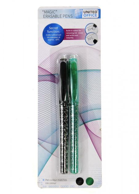 Набір ручок з чорнилом, що стирається UNITED OFFICE 0.7 мм 2 шт.