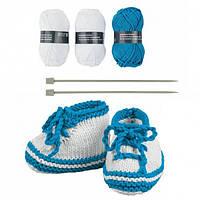 Набор для вязания детских ботиночек Crelando