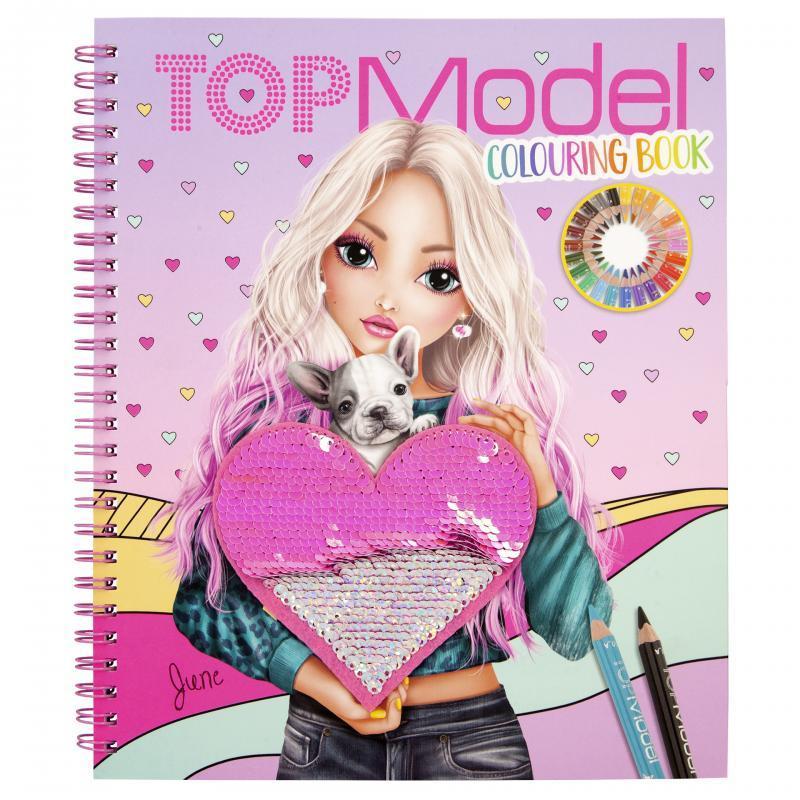 Top Model Раскраска С пайетками (Топ Модел Альбом модный образ depesche 11146)