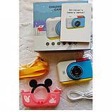 Детский фотоаппарат Микки Маус Розовый 2 Камеры Children`s fun цифровой 40М 1080FHD  (MP), фото 7