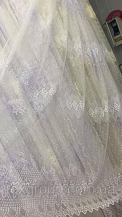 Фатиновый тюль с нежной вышивкой №1039 на отрез, фото 2