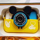Детский фотоаппарат Микки Маус Желтый 2 Камеры  Children`s fun цифровой 40М 1080FHD (MY), фото 3