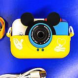 Детский фотоаппарат Микки Маус Желтый 2 Камеры  Children`s fun цифровой 40М 1080FHD (MY), фото 2