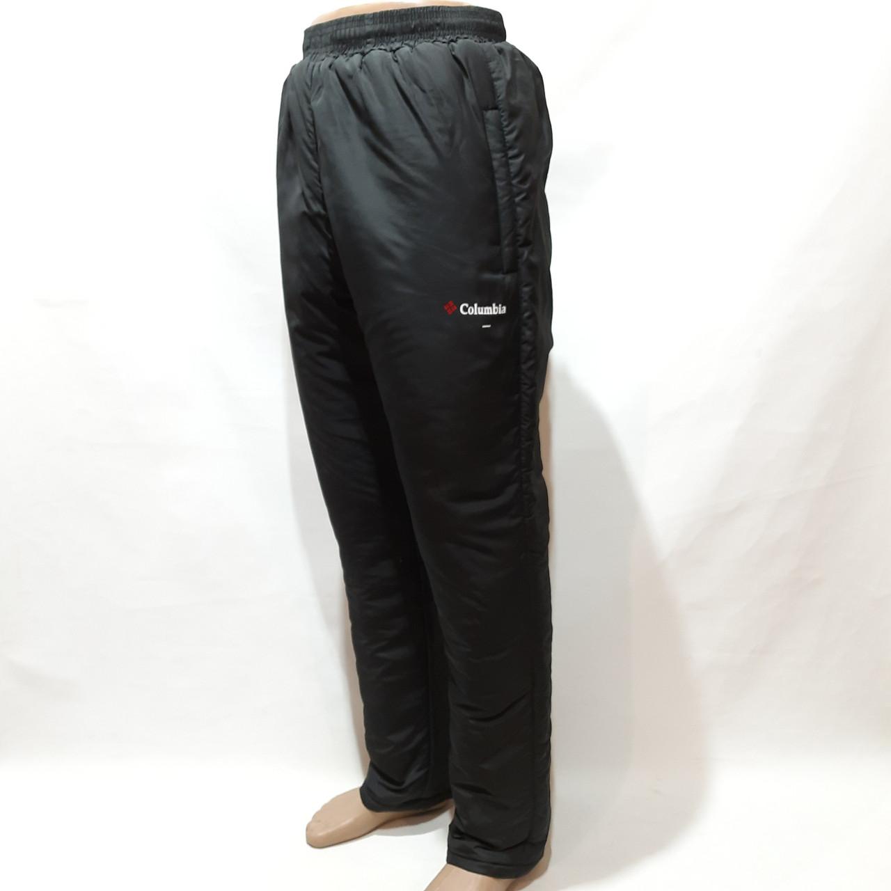 Зимние мужские теплые прямые спортивные штаны на кашемире Черные