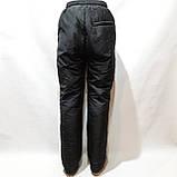 Зимние мужские теплые прямые спортивные штаны на кашемире Черные, фото 6