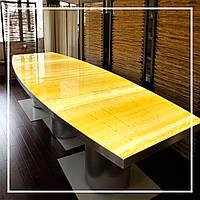 Стол из желтого оникса с подсветкой., фото 1