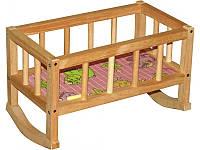 Кроватка для кукол деревянная (40х25х20 см) ВП-002 Винни Пух