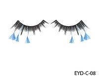 Декоративные подиумные ресницы комбинированные с натуральными перьями Lady Victory LDV EYD-C-08 /0-1