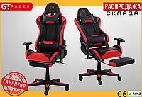 Компьютерное Игровое Кресло Геймерское с Подножкой GT Racer X-2535-F Черное / Красное