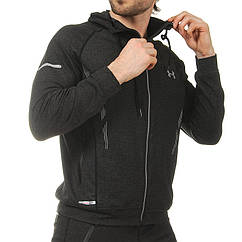 Толстовка спортивная на молнии с капюшоном planeta-sport UAR CO-1831 M рост 165-170 Черный
