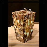 Умывальник из натурального камня Агат, с подсветкой., фото 1