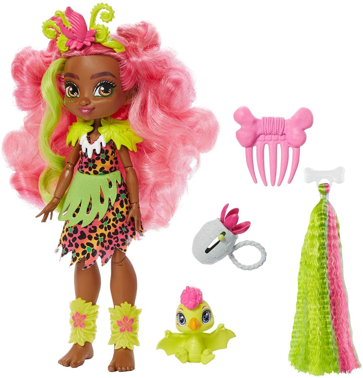 Кукла Фернесса Пещерный клуб Cave Club Fernessa Doll with Pet Ptilly Mattel GNM10