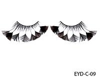 Декоративные подиумные ресницы комбинированные с натуральными перьями Lady Victory LDV EYD-C-09 /0-1