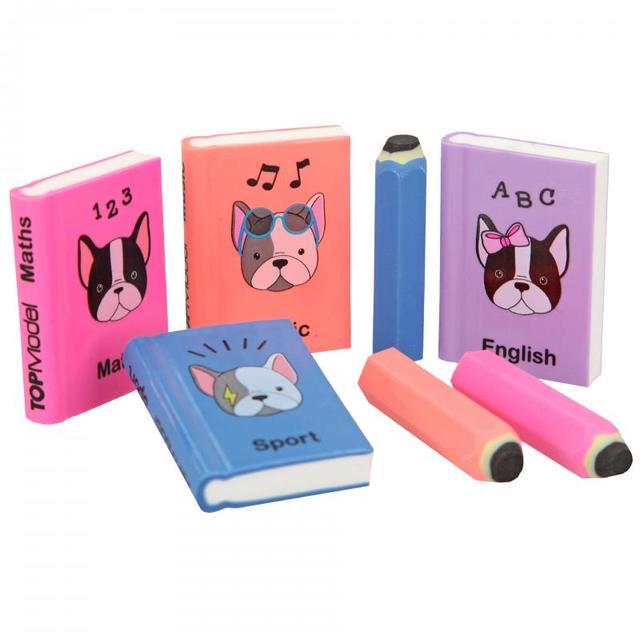 """Набір гумок ТОР Model в вигляді """"Міні книжечка і олівець""""  DOG ( ТОП Модель стиральні резинки Depesche 3942 )"""