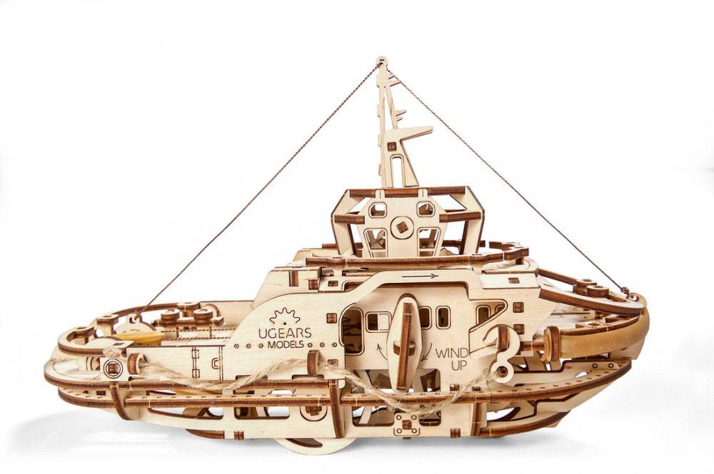 Механические 3D пазлы UGEARS - «Буксир»