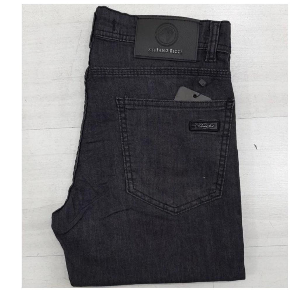 Мужские зауженные чёрные джинсы Stefano Ricci, мужские джинсовые штаны стефано риччи, мужские джинсовые брюки