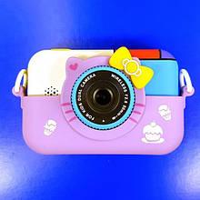 Детский фотоаппарат Hello Kitty Хеллоу Китти Фиолетовый 2 Камеры Children`s fun цифровой 40М 1080FHD (HVC)