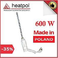 Тэн Heatpol GTN 600W с термостатом для полотенцесушителей (белый)