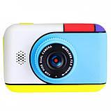 Детский фотоаппарат Hello Kitty Хеллоу Китти Синий 2 Камеры Children`s fun цифровой 40М 1080FHD (HBC), фото 2