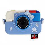 Детский фотоаппарат Hello Kitty Хеллоу Китти Синий 2 Камеры Children`s fun цифровой 40М 1080FHD (HBC), фото 5
