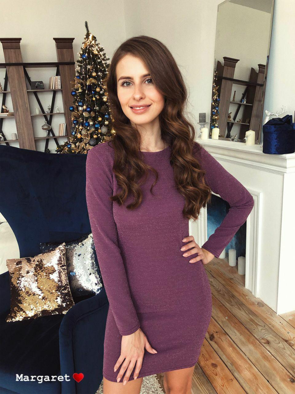 Великолепное платье из стрейч-трикотажа с люрексом Katherine