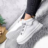 Ботинки женские Nies белые + серые 2794, фото 2