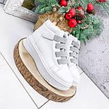 Ботинки женские Nies белые + серые 2794, фото 3
