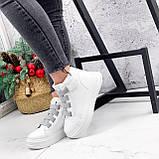 Ботинки женские Nies белые + серые 2794, фото 4
