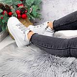 Ботинки женские Nies белые + серые 2794, фото 5