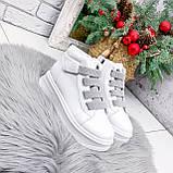 Ботинки женские Nies белые + серые 2794, фото 6