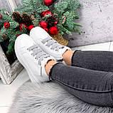 Ботинки женские Nies белые + серые 2794, фото 7