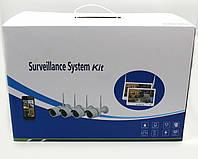 Регистратор + Камеры DVR KIT LCD 13 1304 WiFi 4ch набор на 4 камер