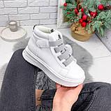 Ботинки женские Nies белые + серые 2794, фото 8