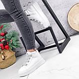Ботинки женские Nies белые + серые 2794, фото 9