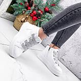 Ботинки женские Nies белые + серые 2794, фото 10