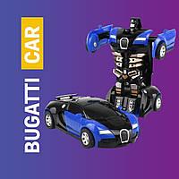 Трансформер Bugatti Robot Car машина на радиоуправлении, авто с пультом, робот Size 18 см