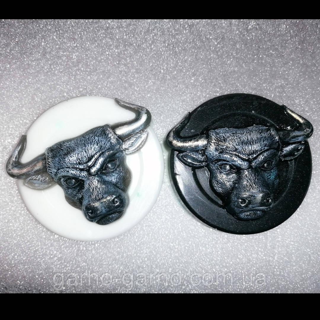 Мило бик сталевий білий бик символ року мило ручної роботи бичок мило натуральне Подарунок