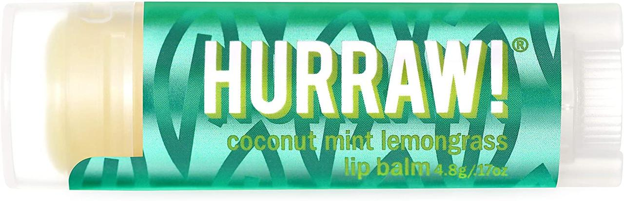 Hurraw! Coconut mint lemongrass Pitta Lip Balm Бальзам для губ 4,8 г.