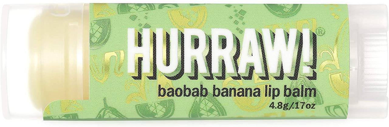 Hurraw! Baobab Banana Lip Balm Бальзам для губ 4,8 г.
