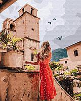Картина рисование по номерам Никитошка Прогулка улочками BK-GX36343 40х50 см Люди на картине набор для росписи