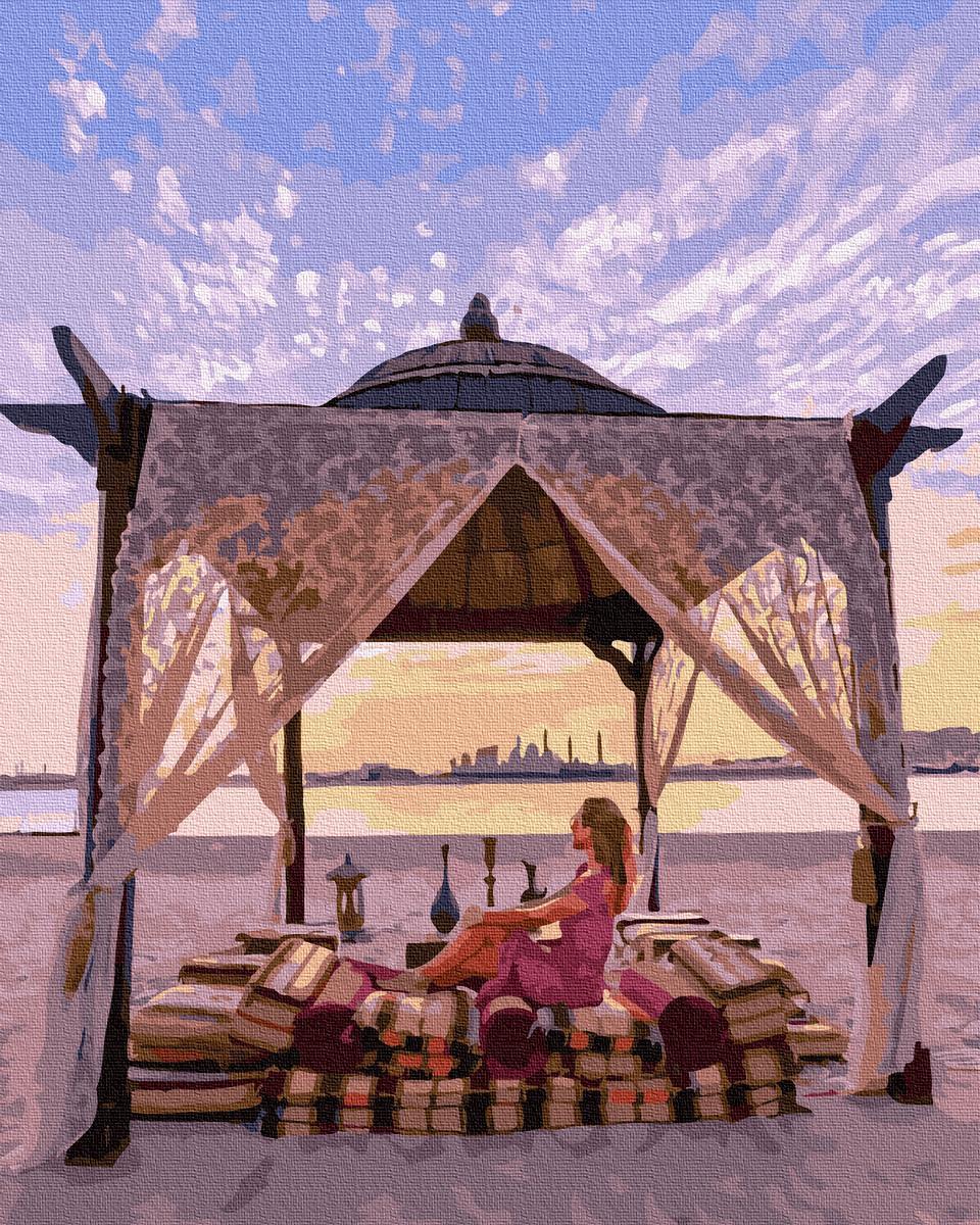 Картина рисование по номерам Никитошка Отдых на пляже BK-GX36344 40х50 см Люди на картине набор для росписи